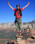 Rock Climbing Photo: Sweet rarely achieved summit!
