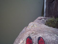 Rock Climbing Photo: There's the North Platte River, as seen from a bel...