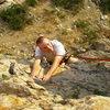 Christopher climbing in Ogden.