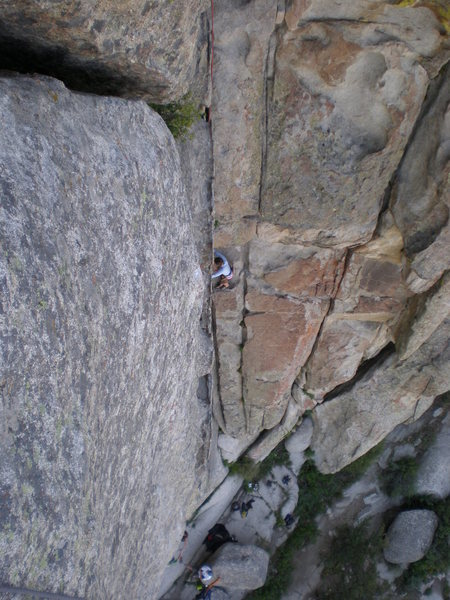 Rock Climbing Photo: Great view of the route Easy Corner.