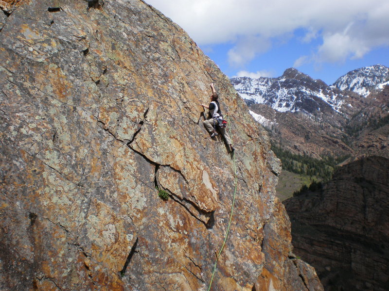 Rock Climbing Photo: Nate at the end of another warm up lead of Intelli...