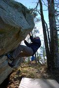 Rock Climbing Photo: Jon on Scoop Traverse