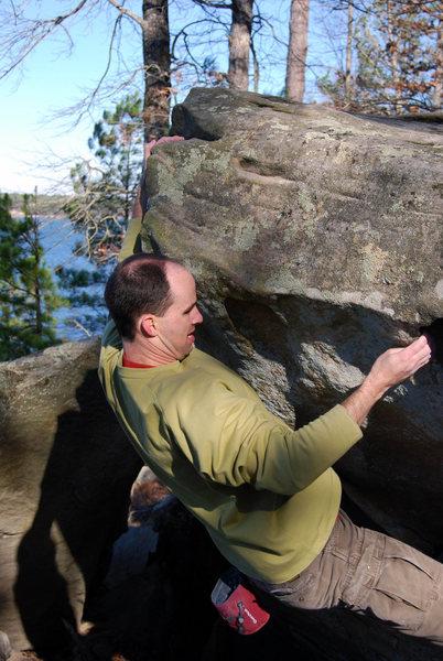 Rock Climbing Photo: Jeff on Scoop