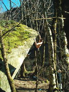 Rock Climbing Photo: Nate high on the second ascent of Ecocide V10