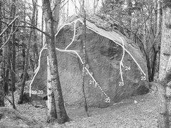 Rock Climbing Photo: 21. Goldfinger V10