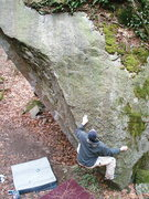 Rock Climbing Photo: Marco on the start of The Grunge V2-