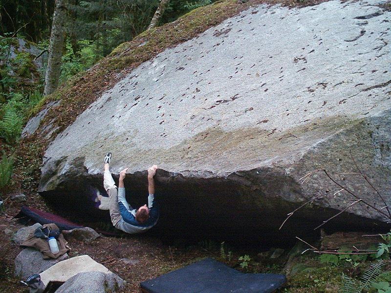 Rock Climbing Photo: Quinn on Deliverance V3