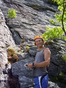 Rock Climbing Photo: Nathan Hingley managing to look studly and goofy a...