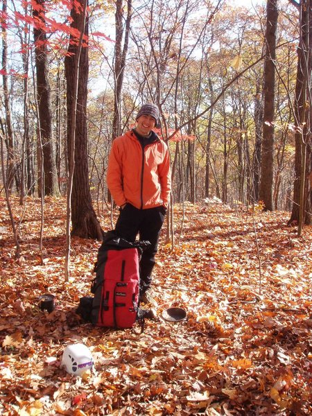 Rock Climbing Photo: Me before a cold Nov day at the Gunks, 2007.