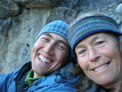 Rock Climbing Photo: Me and Dee Thomas taking a break on the East Ledge...