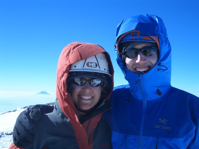 My sister and I on the summit of Rainier, Aug. 2006