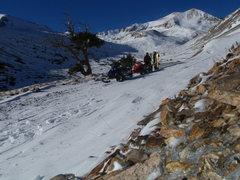 Rock Climbing Photo: Jeff Barnow and Austin Porzak after a winter ski d...