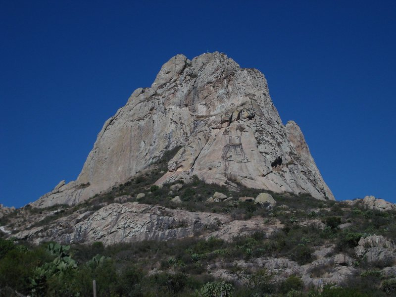 Rock Climbing Photo: Pena de Bernal, from the approach. Photo copied fr...