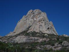 Rock Climbing Photo: Pena de Bernal, from the approach. Photo copied fr...