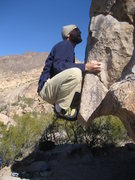 Rock Climbing Photo: High feet on the protrusion.