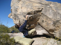 Rock Climbing Photo: Here's where I started this route. Maybe the V5 st...