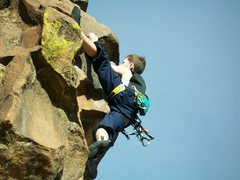 Rock Climbing Photo: new river gorge homesick blues 5.9+ Photo 5