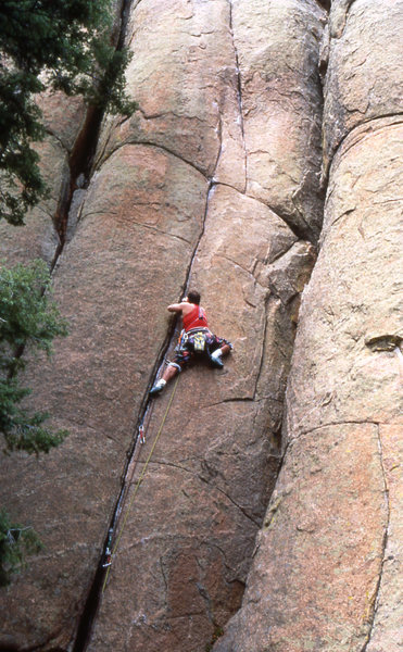 "On sight "" Vanishing Point"" 5.10 Turkey Rock Colorado"