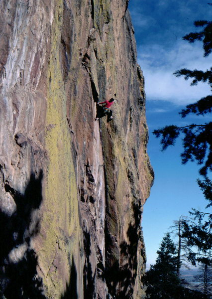Bob Horan on the 2nd ascent of Warlocks.