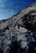 Rock Climbing Photo: Bob Horan on 2nd ascent of Warlocks.