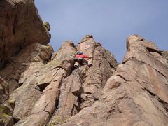 Rock Climbing Photo: Mike W. leading Intuition, 1/2/2009.