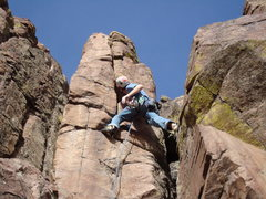 Rock Climbing Photo: Myself leading T&J.  Photo by Dyan F.