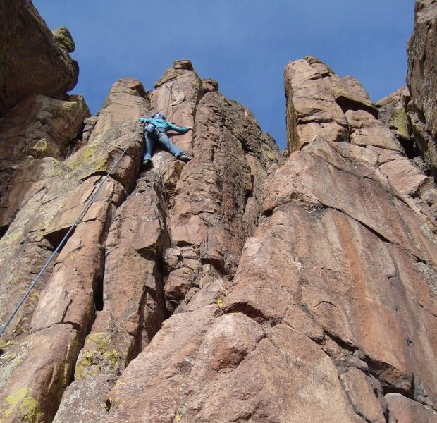 Rock Climbing Photo: Dyan raging on Intuition.