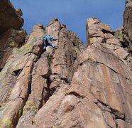 Rock Climbing Photo: Dyan raging on Intuition.