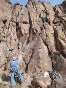 Rock Climbing Photo: Dyan raging on KSTL.