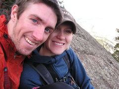 Rock Climbing Photo: Marni and I on the summit of the first flatironett...