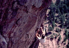 Rock Climbing Photo: Bruce Bailey sends the Clever Lever. Photo: Bob Ho...