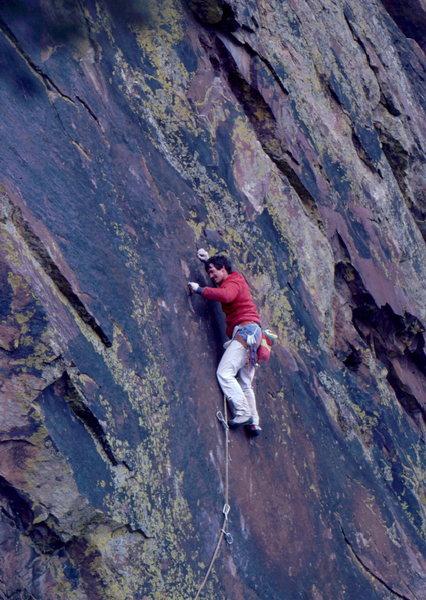 Rock Climbing Photo: Bob Horan on 1st ascent of The Gem.