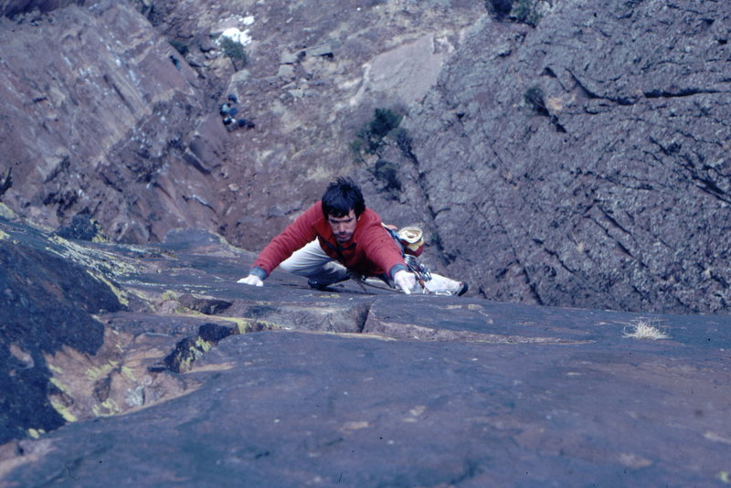 Rock Climbing Photo: Bob Horan freeing The Gem.