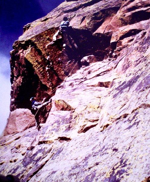 Rock Climbing Photo: Bob Horan, barefoot, and Chip Ruckgaber on Mellow ...