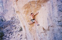 "Rock Climbing Photo: The classic ""Rose Move"" on Rude Boys."