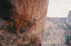 Rock Climbing Photo: Getting established above the roof on Aggro Monkey...