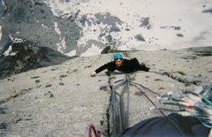 Rock Climbing Photo: Savoring the stellar headwall.