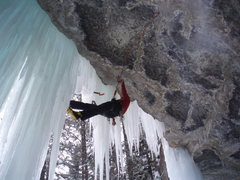 Rock Climbing Photo: after the roof, you gotta punch thru the curtain a...