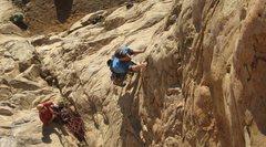 Rock Climbing Photo: Jeff starting up Corner Route