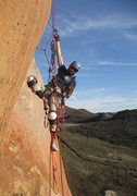 Rock Climbing Photo: learning how to jumar. (photo: Theron Moses)