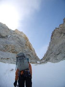 Rock Climbing Photo: approach gully for de la S.