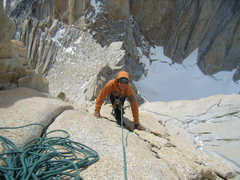 Rock Climbing Photo: Jordon following the 2nd pitch on de la S. Very ni...
