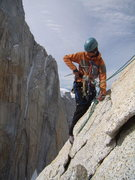 Rock Climbing Photo: Jordon tricking out a rapell station on the way do...