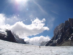 Rock Climbing Photo: Hiking in to Cerro Torre base-camp