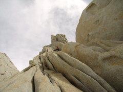 Rock Climbing Photo: Last pitch on de la 'S'.