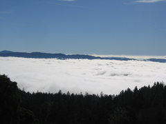 Rock Climbing Photo: The clouds hovering above Calistoga. It was so pre...