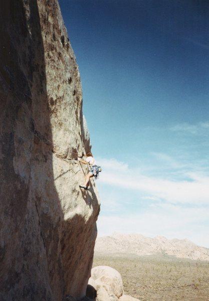 Rock Climbing Photo: Approaching crux