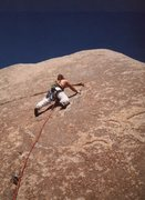 Rock Climbing Photo: 1st assent party, nearing the end of the line, 3 b...