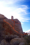 Rock Climbing Photo: Topo of the route (You can see the Aiguille sticki...