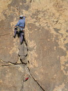 Rock Climbing Photo: Midway up on Planet Y.